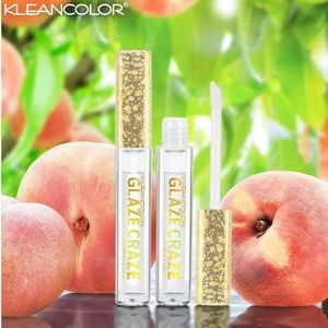 New Kleancolor Peach Scented Lip Gloss 2pcs